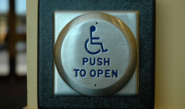 Photo of open door button